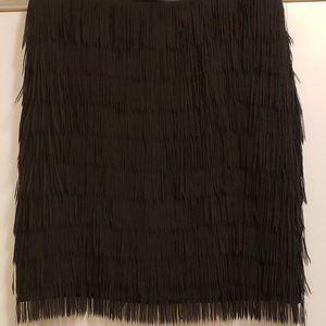 NY&Co Black Fringe/Swing Skirt